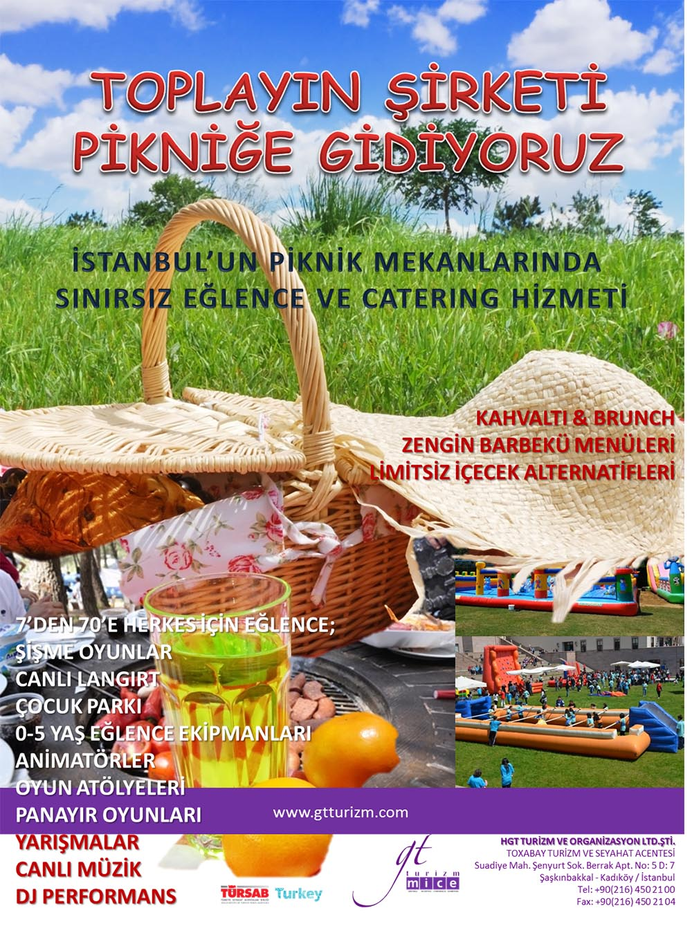 Şirket Piknikleri Kampanya Afiş