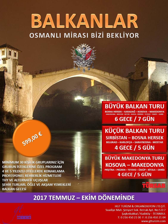 Balkanlar Turu Afiş