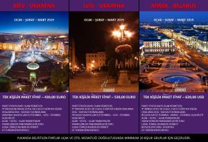 Kiev Lviv Minsk Gezi Tur 2019 Ocak Şubat Mart